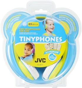 Image of   børnehovedtelefoner med volumebegrænser. Gul/Blå