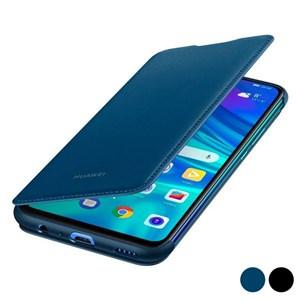 Image of   Bog-case P Smart 2019 Huawei Flip Cover Læder Sort