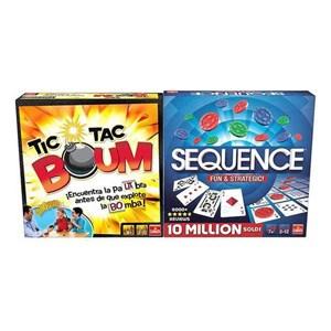 Brætspil Tic Tac Boum + Sequence Goliath (ES)