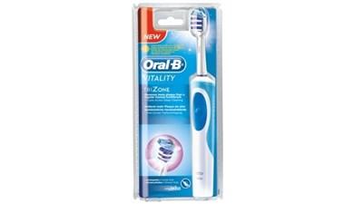 Vitality TriZone Voksen Vibrerende tandbørste Hvid