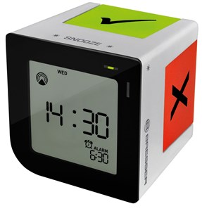 Image of   FLIPME Digital alarmur Sort, Sølv