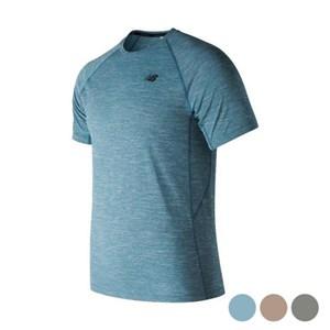 Kortærmet T-shirt til Mænd New Balance Tenacity Blå L