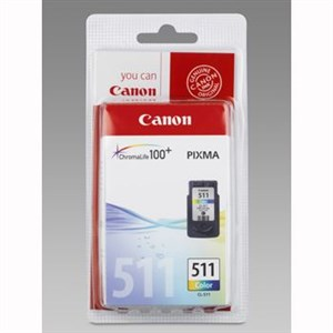Canon CL-511 color ink cartridge, blistered