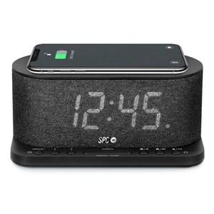 """Billede af Clockradio med trådløs oplader SPC 4582N 4,3"""" LED USB Sort"""