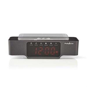 Image of   Clockradio med vækkeur | Trådløs opladning af telefon | FM | Bluetooth