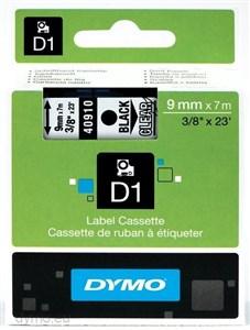 Image of   D1, markeringstape, 9mm, sort tekst på transparent tape, 7m - 40