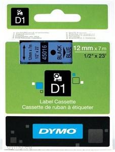 Image of   D1® - Standard - Sort på blå - 12mm x 7m