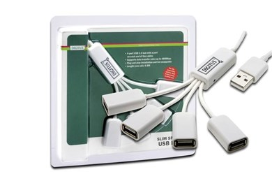 Image of   DA-70216 interface hub 480 Mbit/s White