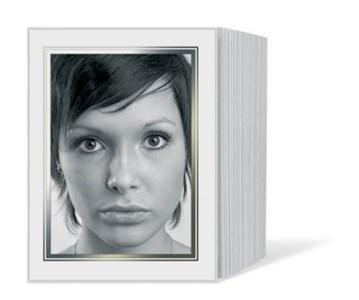 Image of   20110 billedramme Sølv, Hvid Multi billedramme