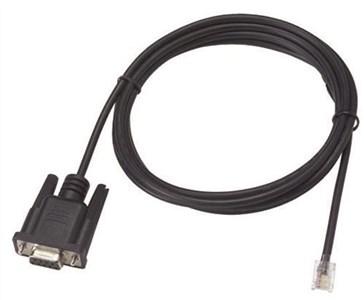 Image of   DB9 - RJ11 serial consol kabel, tilpasset VessRAID, 2m, sort