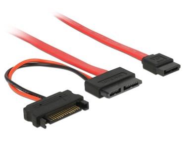Image of   0.3m SATA SATA-kabel Rød