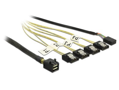 Image of   0.5m, Mini SAS HD SFF-8643/4xSATA 7p 0,5 m