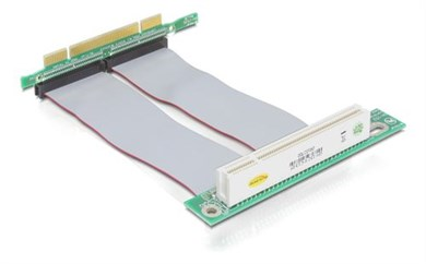 DE-LOCK DeLOCK PCI raiser card, PCI 32 3,3/5V male - PCI 32Bit 5V female, 13cm