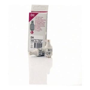 Image of   Diazed DII sikringer, 16A, 5 stk.