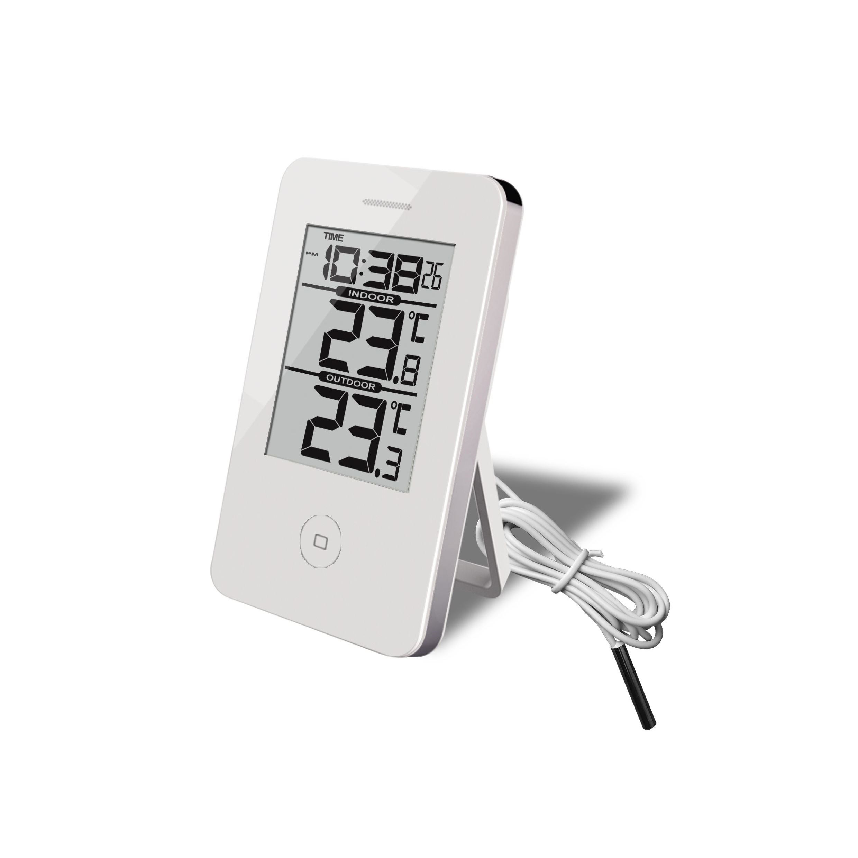 Tidssvarende Digital Inde/Ude Termometer & Ur Termometerfabriken SW-51