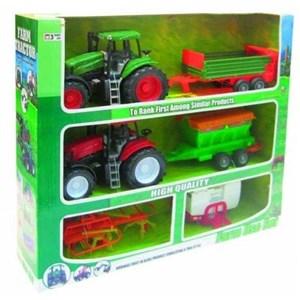 Image of   2 traktorer m/4 anhængere,