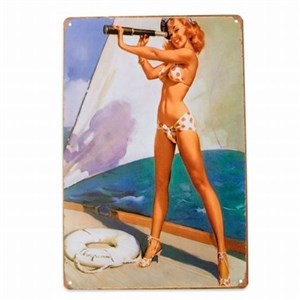 Image of   metalskilt BEACHBABE 20X30