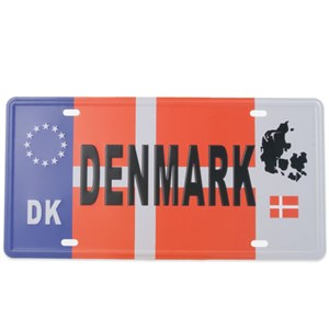 Image of   metalskilt DENMARK, 15x30