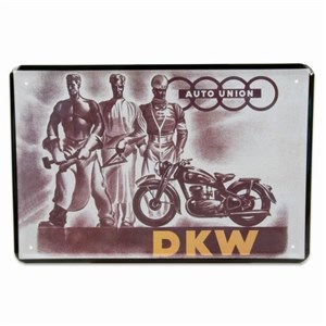 Image of   metalskilt DKW MOTORCYKEL 20X30 cm
