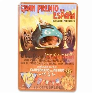 Image of   metalskilt GRAN PREMIO 20X30 cm