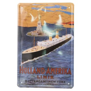 Image of   metalskilt HOLLAND/AMERIKA LINE, 20X30