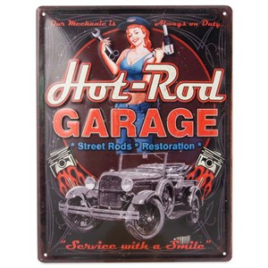 Image of   metalskilt HOT-RODS, 25X33
