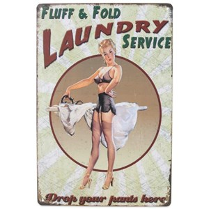 Image of   metalskilt LAUNDRY SERVICE, 20x30