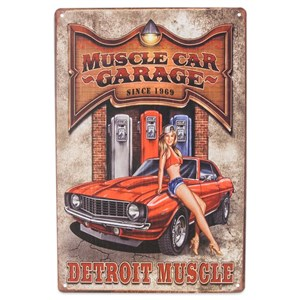 Image of   metalskilt MUSCLE CAR GARAGE 20x30