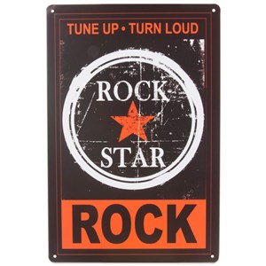 Image of   metalskilt ROCK STAR 20x30
