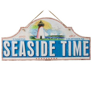 Image of   metalskilt SEASIDE TIME 40X19