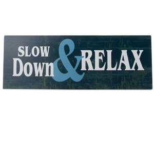 Image of   metalskilt SLOW DOWN.....13X36
