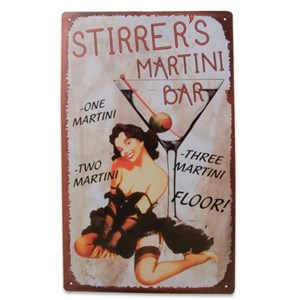 Image of   metalskilt STIRRERS MARTINI 40X25 cm