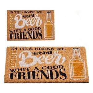 Billede af Dørmåtte Beer & Friends Kokos (40 x 2 x 60 cm)