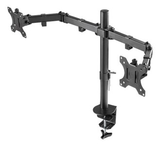 DELTACO GAMING Dual monitor desk mount, 13