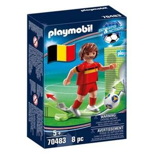 Dukke Football Player Belgium Playmobil 70483 (8 pcs)