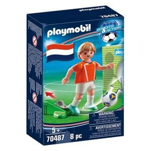 Dukke Football Player Holland Playmobil 70487 (8 pcs)