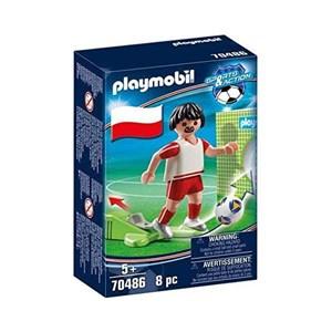 Dukke Football Player Poland Playmobil 70486 (8 pcs)
