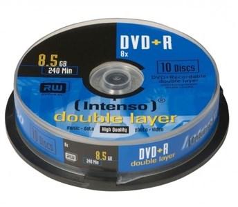 Image of   DVD+R 8.5GB, DL, 8x 8,5 GB 10 stk