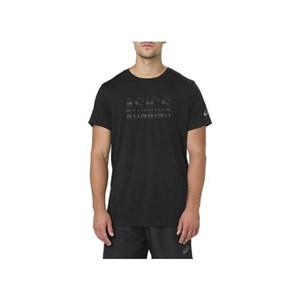 Kortærmet T-shirt til Mænd Asics GRAPHIC SS TOP Sort XL