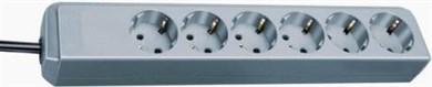 Image of   Eco-Line overspændingsbeskytter 6 AC stikkontakt(er) 1,5 m Grå, Sølv