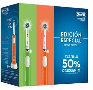 Billede af Elektrisk tandbørste Oral-B PRO600 3D Grøn Orange Genopladeligt batteri