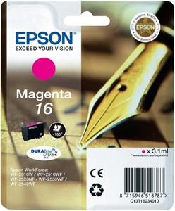 Original blækpatron Epson T16 Magenta