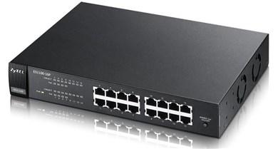 Image of   ES1100-16P Unmanaged L2 Grey Power over Ethernet (PoE)