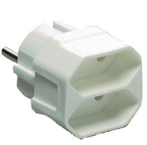 Image of   Euro double plug strømadapter og vekselret 3500 W Hvid