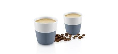 Image of   Espresso-krus, 2 stk. Steel blue 80 ml