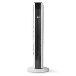 Billede af Fjernstyret tårnventilator | 3 hastigheder | Drejefunktion | Timerfunktion | Hvid