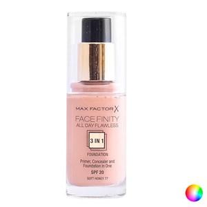 Flydende makeup foundation Face Finity 3 In 1 Max Factor 100 - suntan