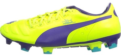 Image of   Football shoes Puma Evo Power 2 FG yellow purple
