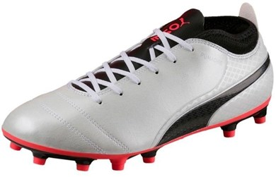 Image of   Football shoes Puma One 17.4 FG white, black and red