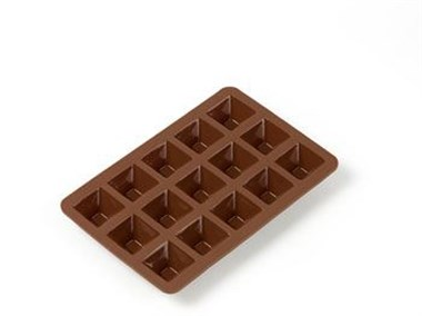 Se større billede af funktion chokoladeform 18x12 pyram silikone